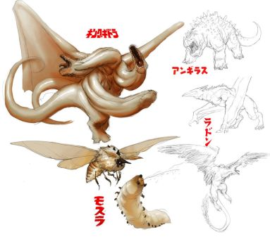 kaiju redesign concepts by SirHanselot