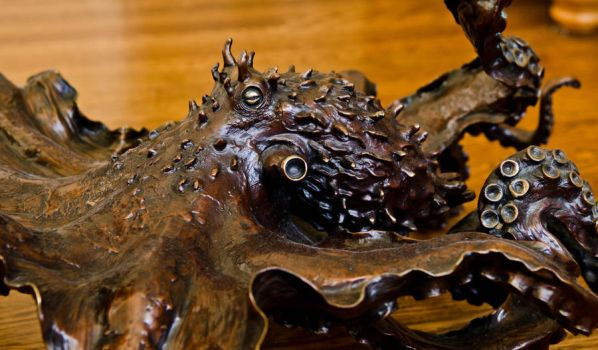 Close up of my 'CEPHALOPOD' bronze by Kirk McGuire by bronze4u