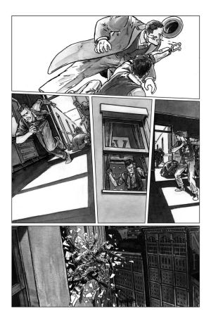deadball noir comic pg6 chase scene by carbono14