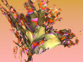 Mandelbulb 3D -- Leafy Bouquet by SEwing0109