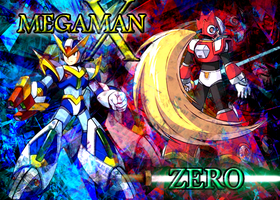 Megaman and Zero by mastersword203
