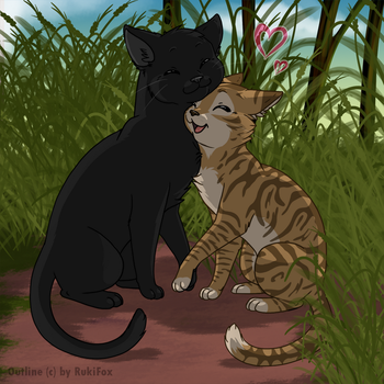 crowfeather and Leafpool by RukiFox