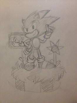 REQUEST - That 90's Hedgehog by Fredbearthe
