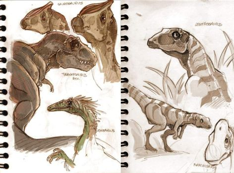 Dinosaurs sketches. by VanOxymore