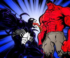 Red Huk vs. Venom by InaudibleWhisper