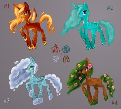 Elemental Ponies - Closed by tite-pao