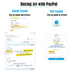 Buying art with PayPal by onisuu