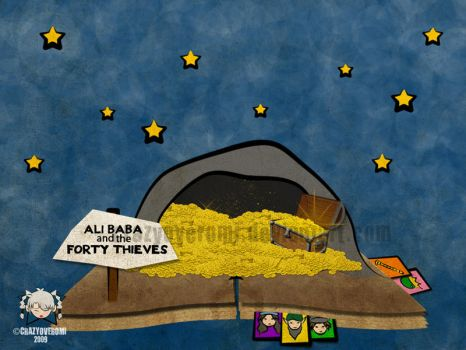 Ali Baba and the 40 Thieves by crazyoveromi