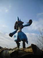 Lucario papercraft by TimBauer92