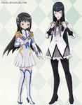 Homura Satsuki Clothes Swap by h0saki
