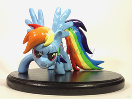 Rainbow Dash Sculpture by PVCpony