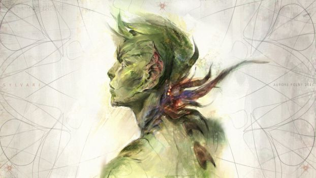 Sylvari sketch by ViridRain