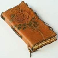 Yellow Rose Leather Journal by gildbookbinders