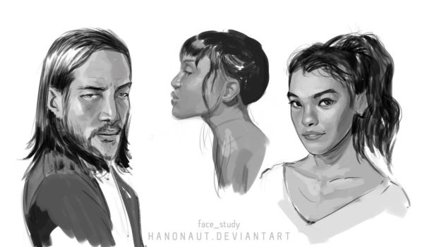 Facestudy06 by Hanonaut