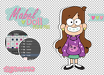 Mabel doll/gravity falls- psd and png. by freshowl