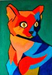 Piccaso inspired cat by Silkythecat