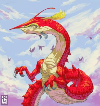 Sky dragon by Imson