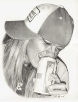 Budwiser Dani Drawing by golfiscool
