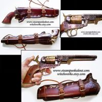 Replica Gun and Holster by Steampunked-Out