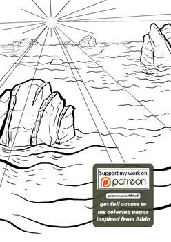 [003] Genesis 1:3 - coloring page - Bible by GhitaBArt