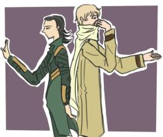 Russia and Loki by Durch-Leiden-Freude