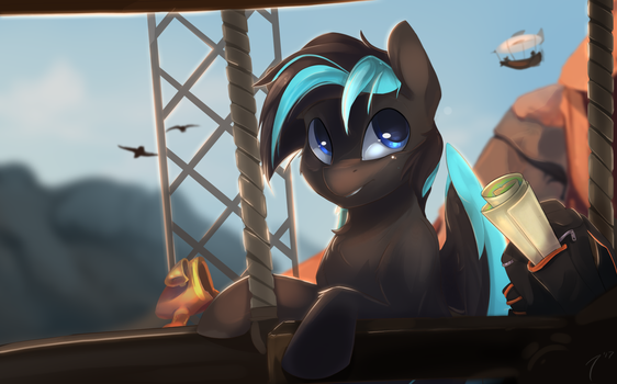 Commission - Canyon Flight by TangoMangoFandango