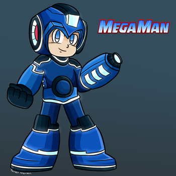 New Mega Man Cartoon Design [Classic Rendition] by thegamingdrawer