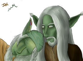 Belu'lo and Ro'Roke Cuddle by Markus-The-Madman