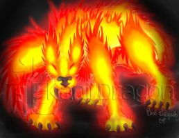 Fire Wolf by KanjiDragon