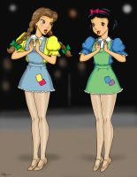 Hoedown Belle and Snow White by Anime-Ray