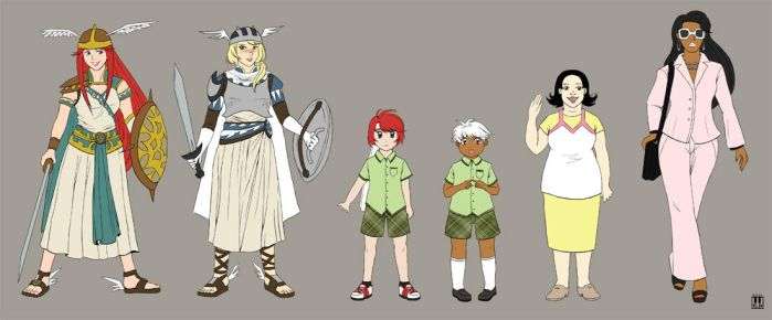 CD Intro + Ch. 4 chara lineup by greenglassesgirl