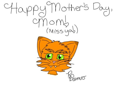 Mother's Day Cat for My Mom by RPremoArt