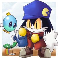 Chibi Klonoa and Huepow by PhuiJL