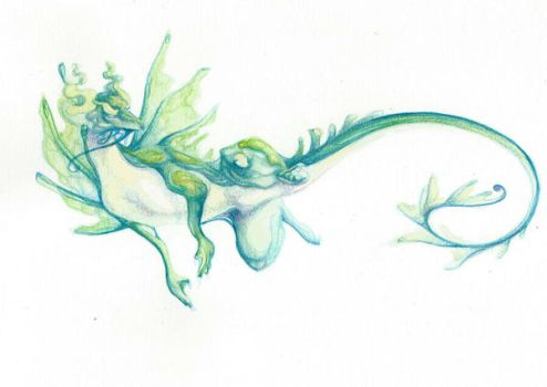 Water Dragon by Goddess-of-Time