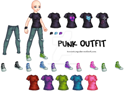 Female Punk Outfit by Icon-Universe