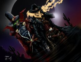 Ghost Rider and Spawn by TimareeZadel on DeviantArt