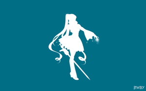 RWBY Silhouette Wallpapers:  Weiss by Mattpc