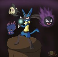 The Power Of Lucario by Flame-of-Icarus