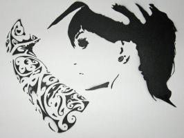 Stencil indoors by Gize-dk