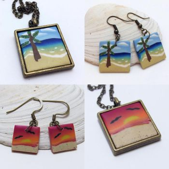 Beach Art Jewelry Sets by noellewis