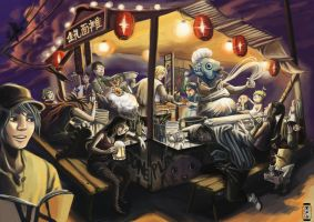 Noodle Stall by YVS51