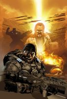 Gears of War 18 cover by Wesflo