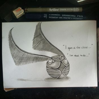 INKtober Day 5: The Snitch by aiisblueapple