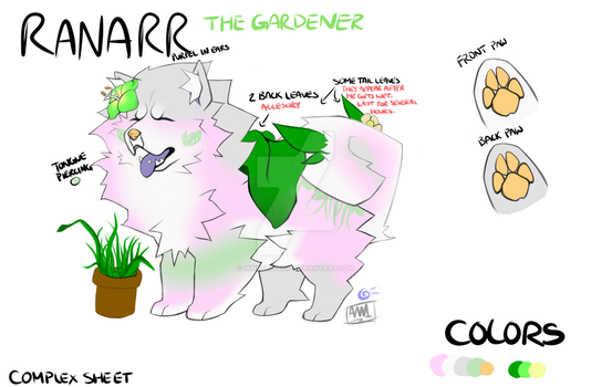 Ranarr the Gardener -Fursona Design request- by MindElectric