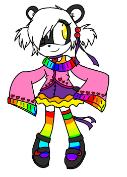 Sonic Panda Adoptable ::SOLD:: by luv-luv-luvie