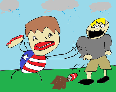 i pinch eric cuz he forget to wear red blue wite by Tlent