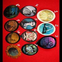 Art Pendants or Brooches by asunder