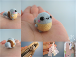 Miniature Felted Squirtle Phone Charm by xxNostalgic