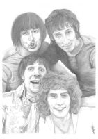 The Who A3 Pencil Sketch by Carl-Seager