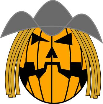 Jack-O-Lantern with hat by DracofireProductions